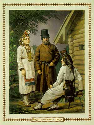 Мордва Сергачского уезда Раскрашенная фотография конца XIX века