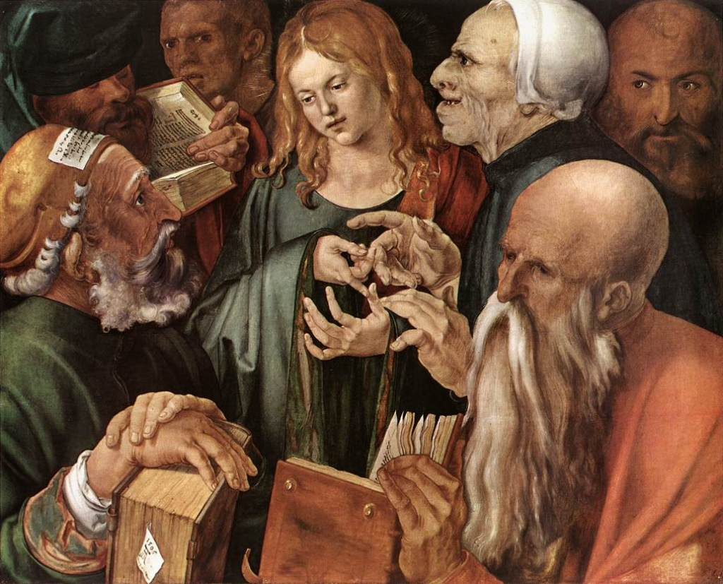 Albrecht Dürer 12. Christ-Among-the-Doctors