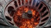 Катастрофа храма Гроба Господня, кувуклия и благодатный огонь