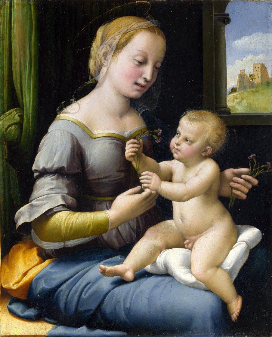 Мадонна с гвоздиками Raffaello Santi