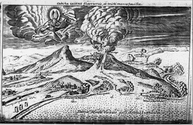 Везувий после извержения 1631 г.