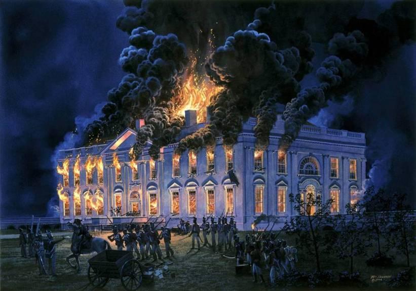 Пожар в Белом доме 24 августа 1814 года